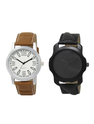 ACNOS Round dial analog watch combo(WAT-LR-15-22-COMBO) - 15501242 - Standard Image - 1