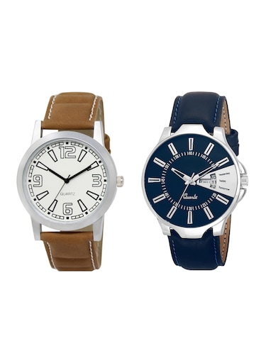 ACNOS Round dial analog watch combo(WAT-LR-15-23-COMBO) - 15501243 - Standard Image - 1