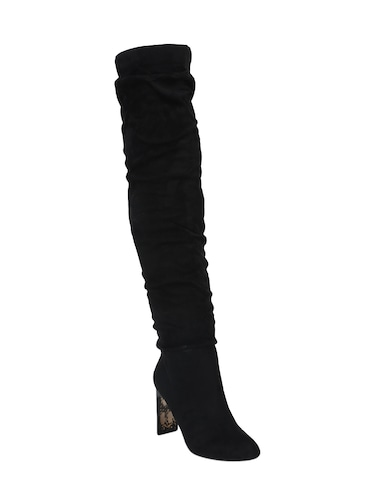 a011d7dceae Buy Black Knee Length Boots for Women from Truffle Collection for ...