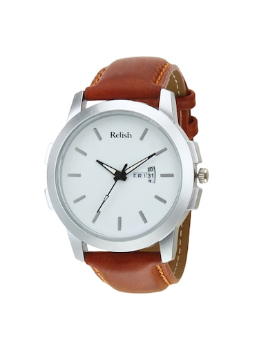 Relish Leather strap analog watch (RE-ST975DD) - 15502757 - Standard Image - 1