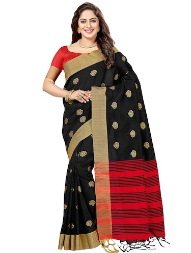 striped pallu zari chanderi saree with blouse - 15503188 - Standard Image - 1