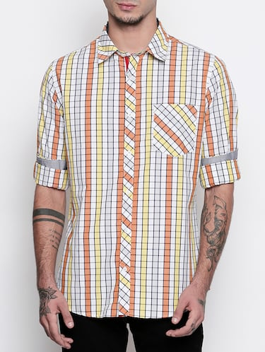 multi cotton casual shirt - 15505388 - Standard Image - 1