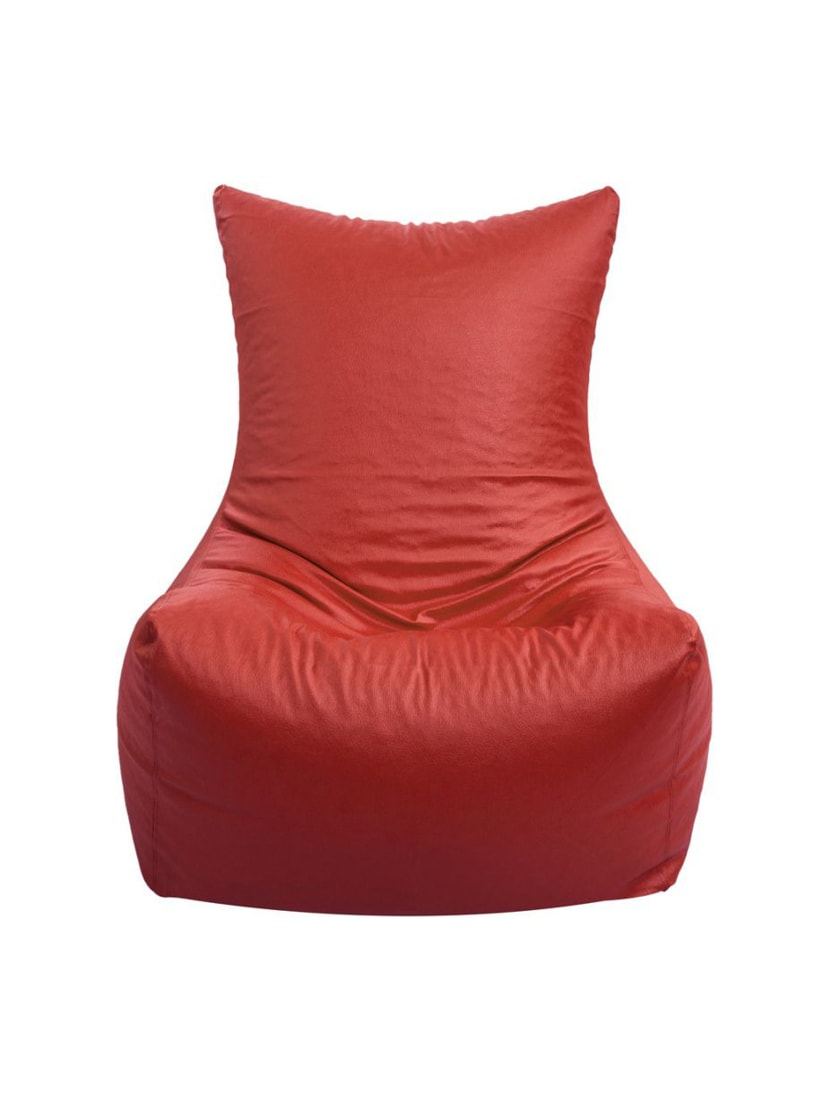 Buy Artificial Leather Chair Red Bean Bag Cover Xxl For