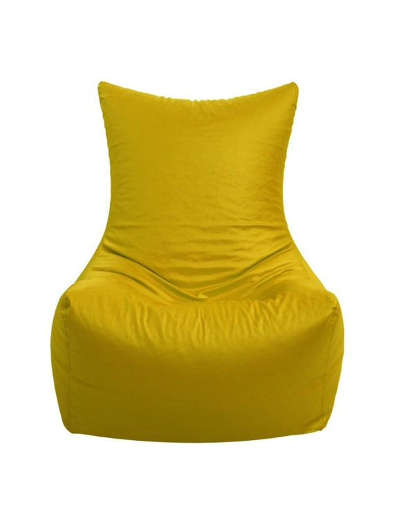 Artificial Leather Chair Yellow Bean Bag Cover Xl 15505948 Zoom Image 1