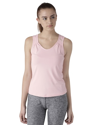 strap gather detail tank top - 15519450 - Standard Image - 1