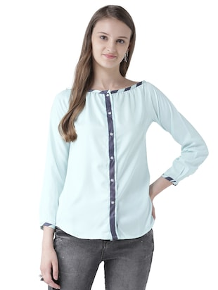 contrast detail button down top - 15519453 - Standard Image - 1