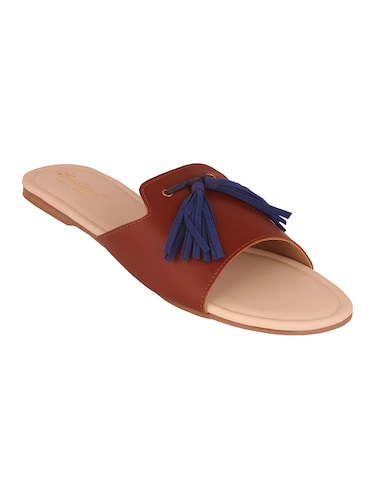 tan slip on sandals - 15526464 - Standard Image - 1
