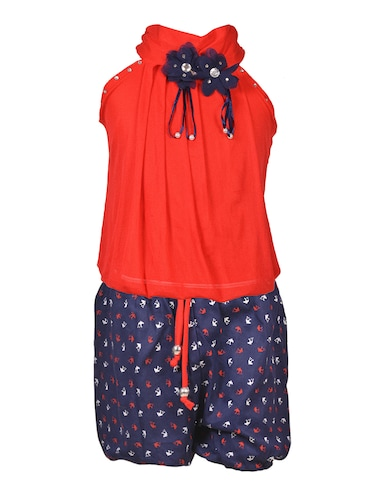 red cotton shorts set - 15528967 - Standard Image - 1