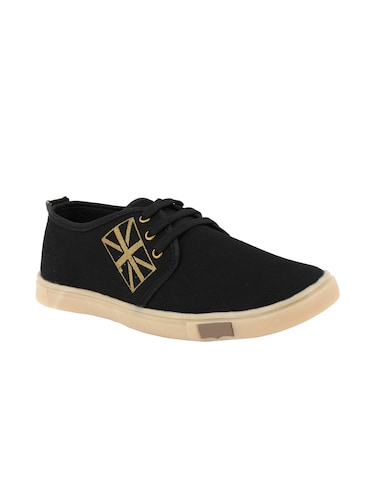 black Canvas lace up sneakers - 15532759 - Standard Image - 1