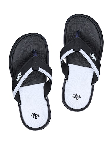 1682909b1104 Buy Black Toe Separator Flip Flops for Men from Liberty Shoes for ...