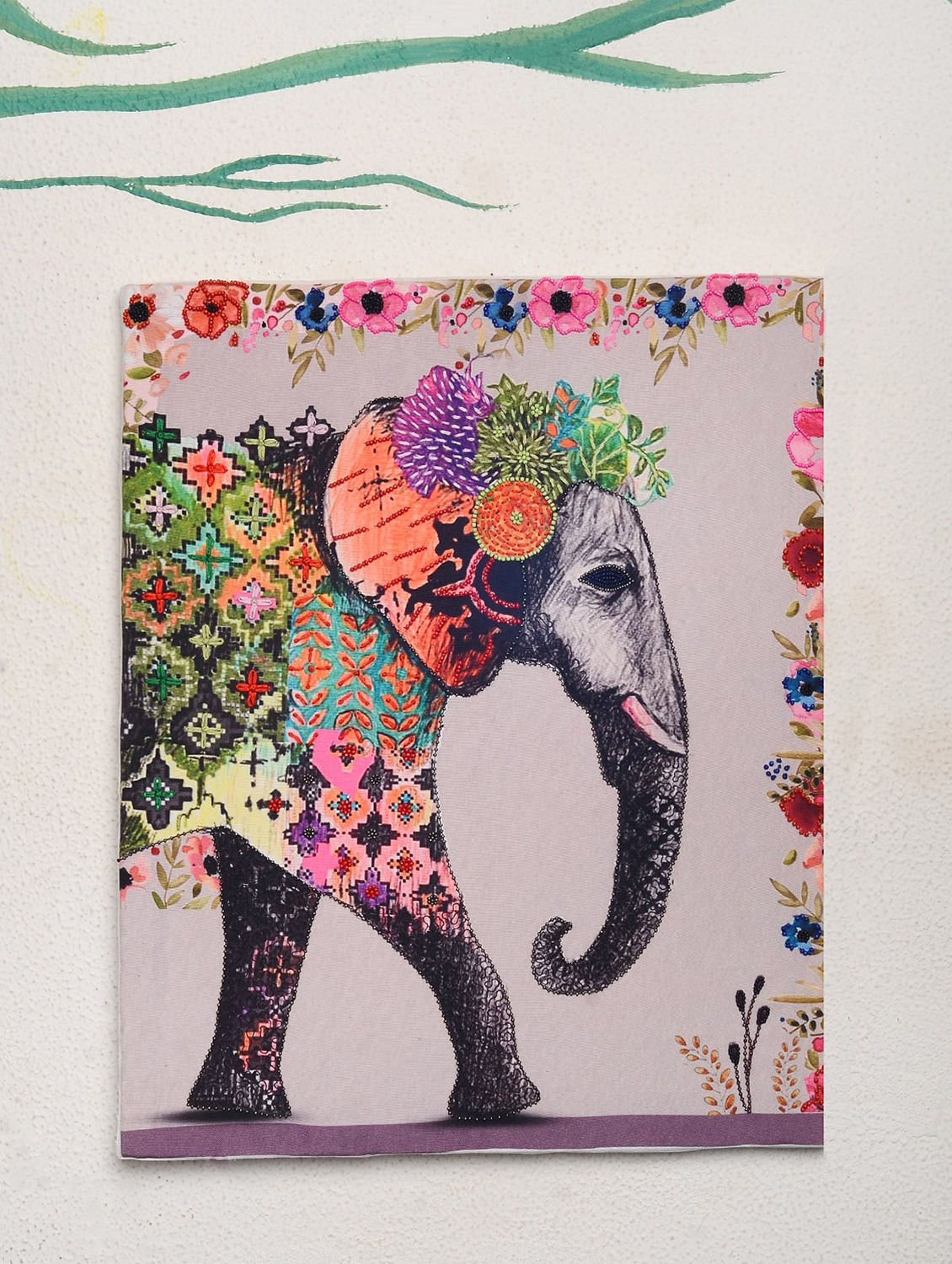 buy boho elephant wall art by flair junkie online shopping for