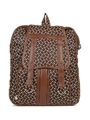brown leatherette (pu) regular backpack - 15584063 - Standard Image - 1