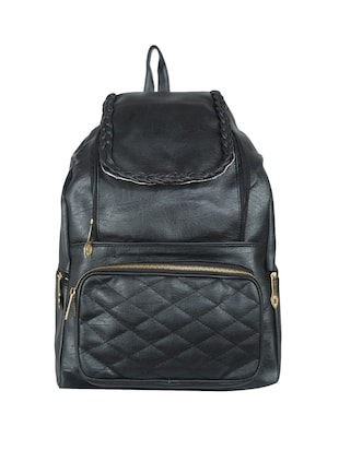 black leatherette (pu) regular backpack - 15584083 - Standard Image - 1