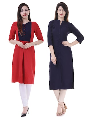Multi colored combos kurta - 15605788 - Standard Image - 1