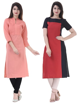 Multi colored combos kurta - 15605798 - Standard Image - 1
