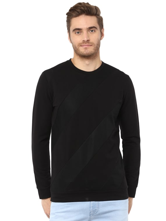a4d36b8f Buy Black Cotton T-shirt by Mufti - Online shopping for T-shirts in ...