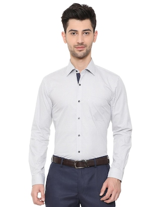 white cotton formal shirt - 15608603 - Standard Image - 1