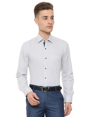 white cotton formal shirt - 15608608 - Standard Image - 1