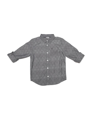 grey cotton blend shirt - 15608870 - Standard Image - 1