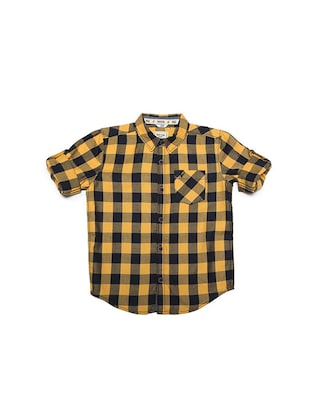 yellow cotton blend shirt - 15608894 - Standard Image - 1