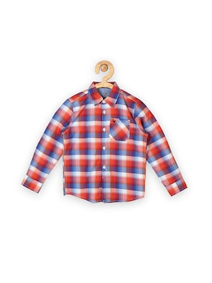 red cotton shirt - 15608937 - Standard Image - 1