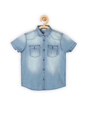 blue cotton shirt - 15608949 - Standard Image - 1