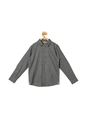 grey cotton blend shirt - 15608962 - Standard Image - 1