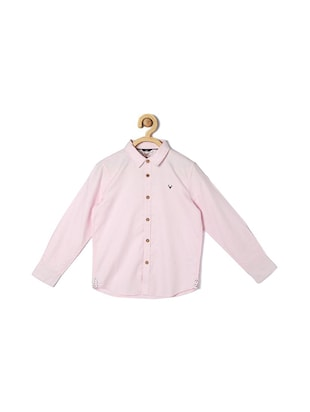 pink cotton blend shirt - 15608963 - Standard Image - 1
