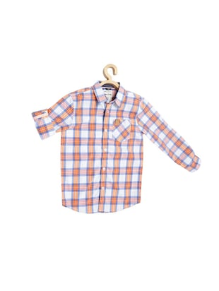 orange cotton blend shirt - 15608999 - Standard Image - 1