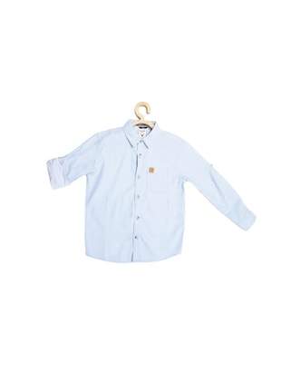 blue cotton blend shirt - 15609007 - Standard Image - 1
