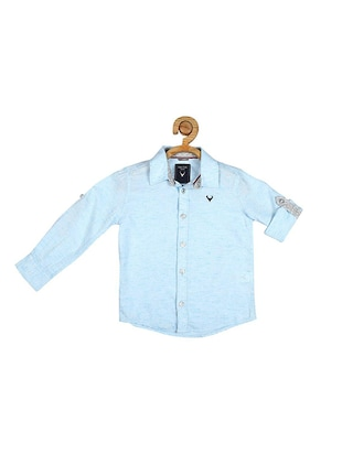 blue cotton blend shirt - 15609027 - Standard Image - 1