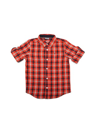 orange cotton blend shirt - 15609044 - Standard Image - 1