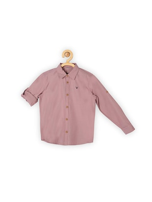 red cotton shirt - 15609062 - Standard Image - 1
