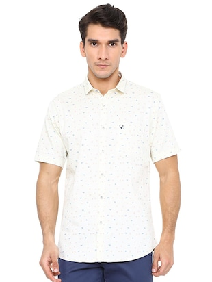 white cotton casual shirt - 15609289 - Standard Image - 1