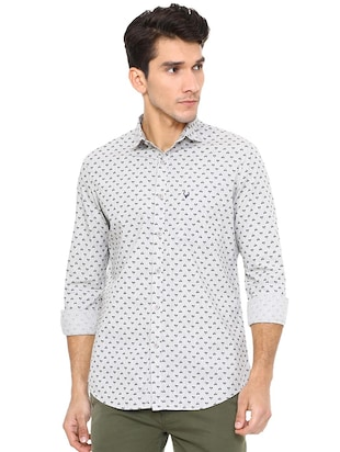 white cotton casual shirt - 15609301 - Standard Image - 1