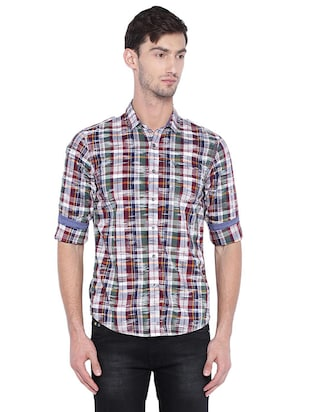 multi cotton casual shirt - 15609390 - Standard Image - 1