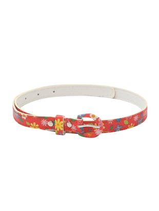 red leatherette belt - 15610521 - Standard Image - 1
