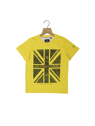 yellow cotton blend tshirt - 15610572 - Standard Image - 1