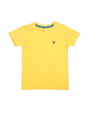 yellow cotton tshirt - 15610580 - Standard Image - 1
