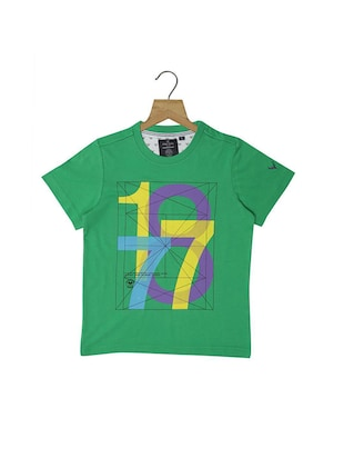green cotton blend tshirt - 15610596 - Standard Image - 1
