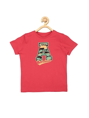 red cotton tshirt - 15610650 - Standard Image - 1