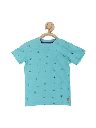 blue cotton blend tshirt - 15610684 - Standard Image - 1