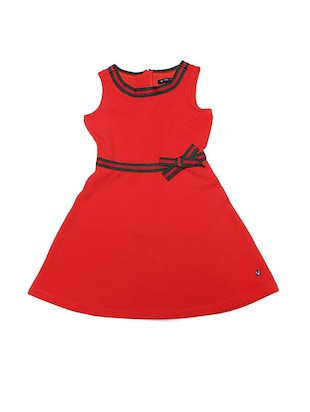 red polyester frock - 15611285 - Standard Image - 1