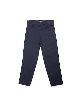 blue cotton blend chinos - 15611879 - Standard Image - 1