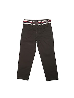 brown cotton blend chinos - 15611881 - Standard Image - 1