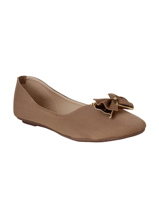 tan slip on ballerinas - 15612057 - Standard Image - 1