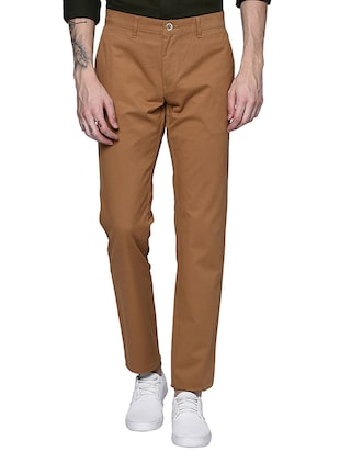 brown cotton chinos casual trouser - 15612305 - Standard Image - 1