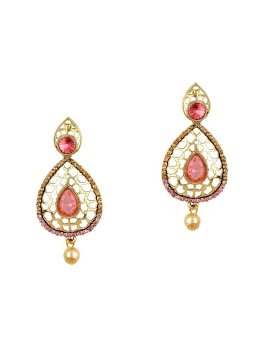 pink gold tone earrings - 15612493 - Standard Image - 1