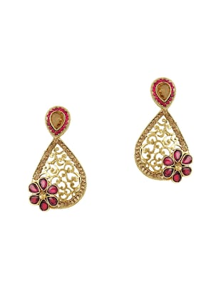 pink gold tone earrings - 15612498 - Standard Image - 1