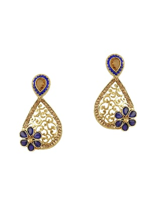 blue gold tone earrings - 15612499 - Standard Image - 1